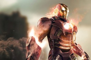 2020 Iron Man Fire 4k Wallpaper