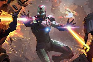 2020 Iron Man Fire Blaster 4k Wallpaper
