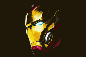 2020 Iron Man Mask Minimalism 4k Wallpaper