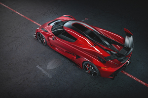 2020 Koenigsegg Jesko Cherry Red Edition 10 8k
