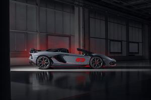 2020 Lamborghini Aventador SVJ 63 Roadster 8k Wallpaper