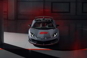 2020 Lamborghini Aventador SVJ 63 Roadster Front View Wallpaper