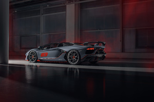 2020 Lamborghini Aventador SVJ 63 Roadster Rear Wallpaper