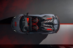 2020 Lamborghini Aventador SVJ 63 Roadster Upper View Wallpaper