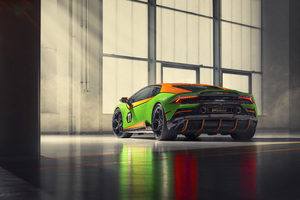 2020 Lamborghini Huracan Evo GT Rear Wallpaper
