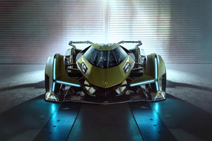 2020 Lamborghini Lambo V12 Vision Gran Turismo Front View Wallpaper