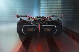 2020 Lamborghini Lambo V12 Vision Gran Turismo Rear Wallpaper