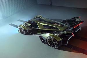 2020 Lamborghini Lambo V12 Vision Gran Turismo Upper View Wallpaper
