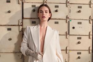2020 Lily James Harpers Bazaar 4k Wallpaper
