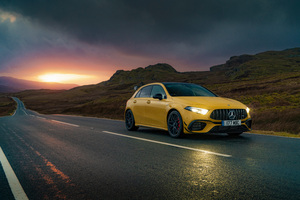 2020 Mercedes Amg A 45 8k Wallpaper