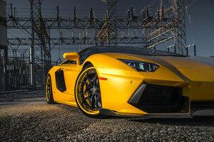 2020 Orange Lamborghini Aventador Sv Closeup