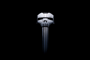 2020 Punisher Logo 4k Wallpaper