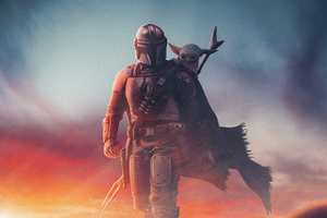 2020 The Mandalorian Yoda Artwork 4k