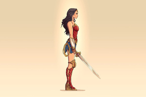 2020 Wonder Woman Minimalism 4k Wallpaper
