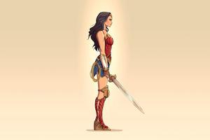 2020 Wonder Woman Minimalism 4k