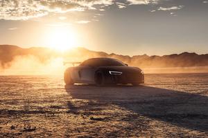 2021 Audi R8 Dry Lake 5k Wallpaper