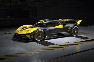 2021 Bugatti Bolide Yellow Black 5k