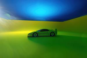 2021 Ferrari F40 Rendered 5k Wallpaper