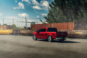 2021 Ford F 150 Velgen Contained Ruby Red 8k Wallpaper