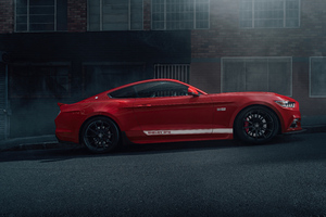 2021 Ford Mustang 50 Gt Race Red 5k Wallpaper
