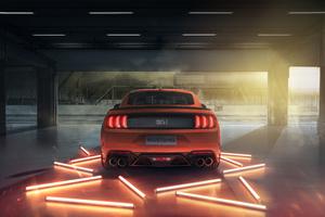 2021 Ford Mustang Mach 1 Rear Wallpaper