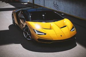 2021 Lamborghini Centenario Yellow Cgi 4k Wallpaper