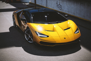 2021 Lamborghini Centenario Yellow Cgi 4k