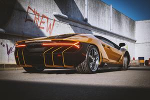 2021 Lamborghini Centenario Yellow Cgi Rear 4k