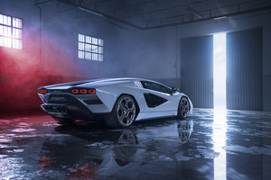 2021 Lamborghini Countach Lpi 800 Rear View 5k Wallpaper
