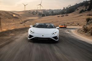 2021 Lamborghini Huracan Evo Rwd Spyder Front View 8k Wallpaper