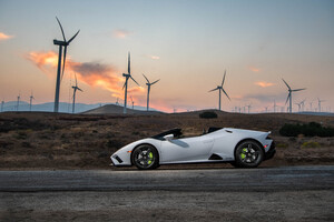 2021 Lamborghini Huracan Evo Rwd Spyder Sideview 8k Wallpaper