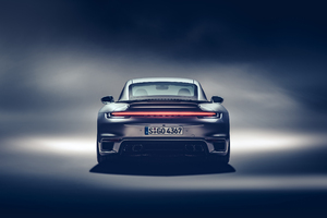 2021 Porsche 911 Turbo S Rear Wallpaper