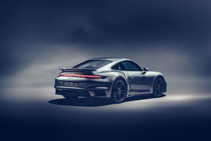 2021 Porsche 911 Turbo S Rear View Wallpaper