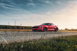 2021 Red Ford Mustang 4k