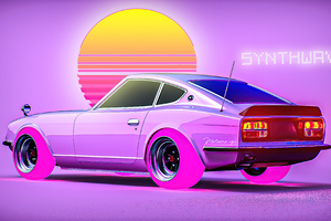 240z Synthwave Wallpaper