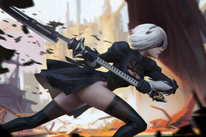2b Nier Automata 2020 5k Wallpaper
