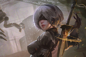2b Nier Automata 4k 2020 Wallpaper