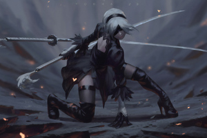 2b Nier Automata Artworks