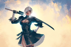 2b Nier Fanart 4k 2020 Wallpaper