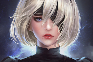 2b Nier Fanart 4k Art Wallpaper