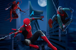 3 Spidermans Wallpaper