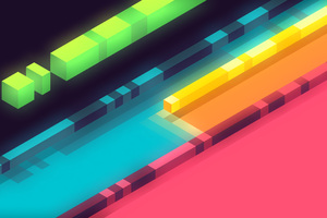 3d Abstract Colorful Shapes Minimalist 5k Wallpaper