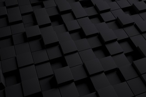3D Black Cube Wallpaper