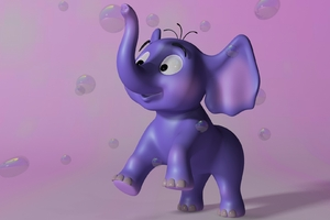 3D Elephant Wallpaper