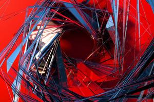 3d Glass Abstract Art Wallpaper