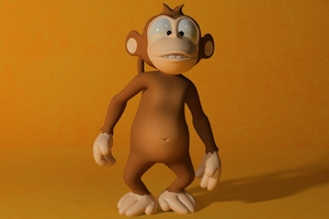 3D Monkey Wallpaper