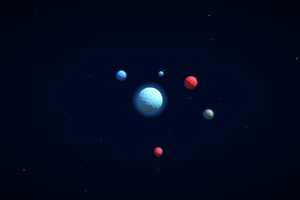 3d Planets