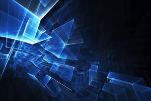 3D Polygon Cubes Wallpaper