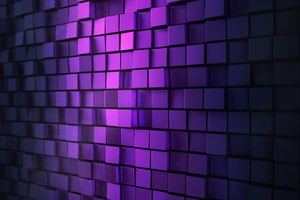3d Purple Wall Abstract 4k