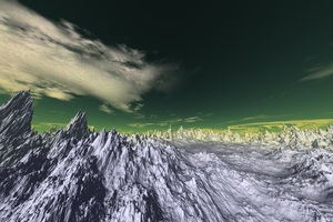 3d Snow Panaromic Mountains Wallpaper